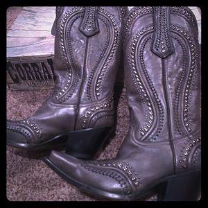 💟Corral women's leather cowboy boots size 8.5 NIB